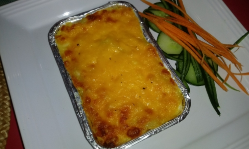 Macaroni and Cheese portions